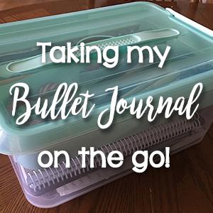 Taking my Bullet Journal on the go!