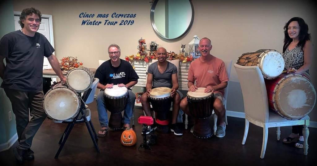 Cinco Mas Cervasas Drum Group - photo credit by Cinco Mas Cervasas