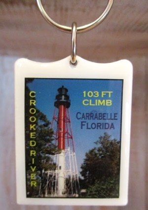 Crooked River Lighthouse Tower Keychain