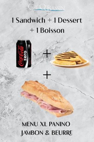 1 Menu panino XL jambon & Beurre