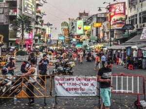 Thai protestors in Bangkok.