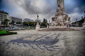 Marquês de Pombal y Avenida de la Libertad, Lisbon, Portugal