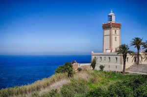 The lighthouse outside Tangier