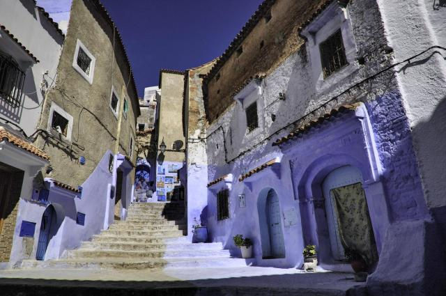 Stairs in Morocco's Blue City