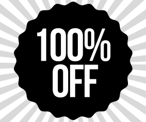 Get 100% off my email newsletter
