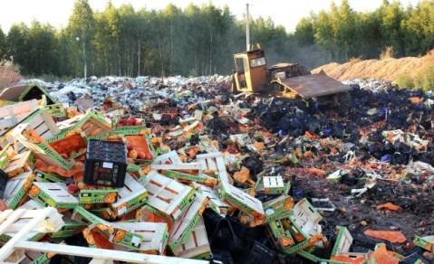 Русия е унищожила над 800 т храни от ЕС