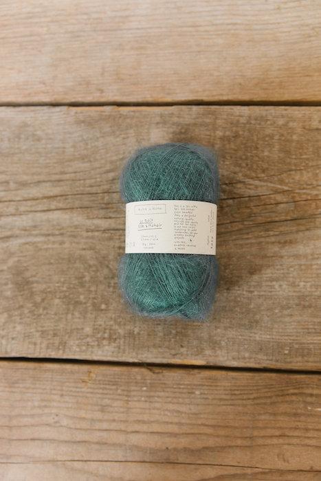 Biches & Bûches silk mohair blue green