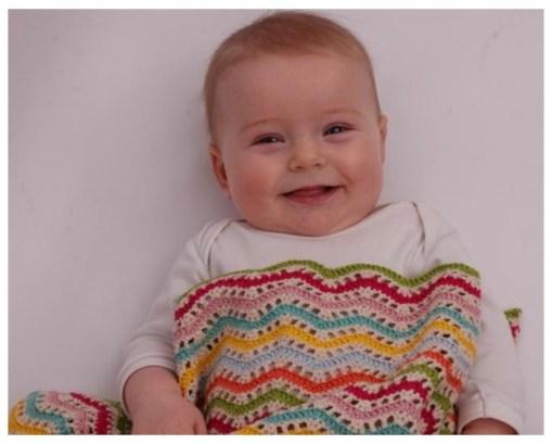Crochet zig zag baby blanket 006