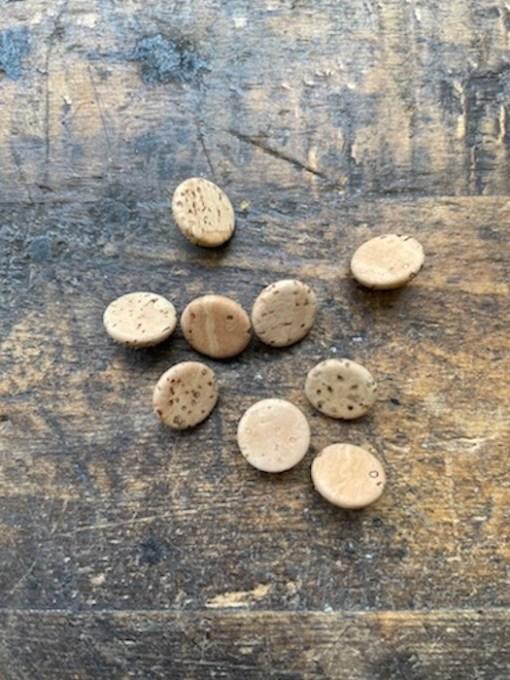 natural cork buttons