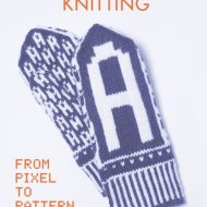 The front cover of the book Typographic Knitting - Rüdiger Schlömer