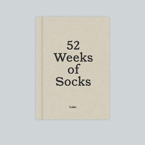 cover of book with title 52 weeks of socks