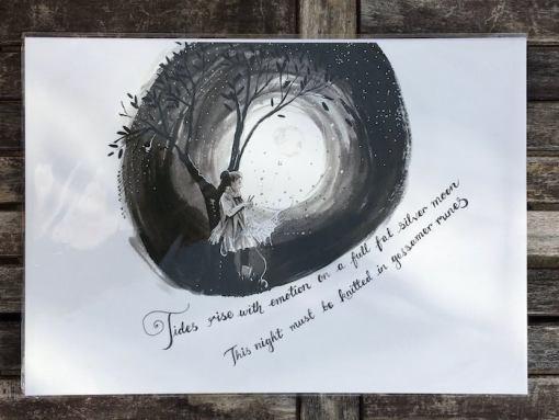 Salina Jane Art tides rise greetings card