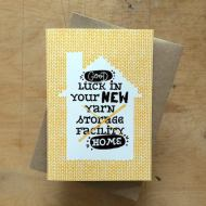 Tilly Flop Designs good luck in your new home - greeting card