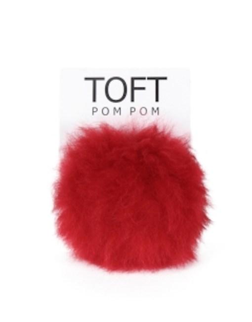 Toft alpaca interchangeable pompom ruby