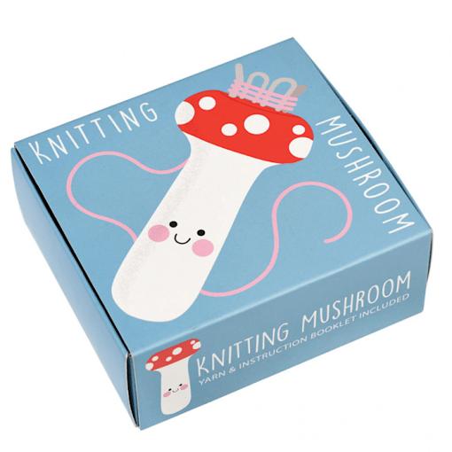 Packaging Rex London Wooden Knitting Mushroom