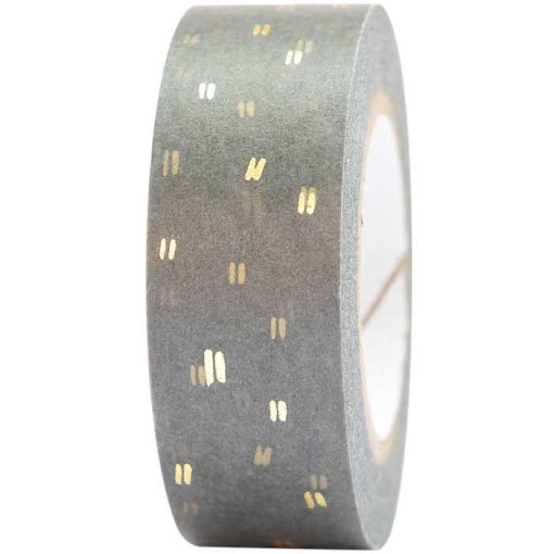 Rico Design - Grey and Gold Washi Tape