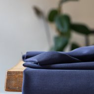 Meet Milk Soft Stretch twill - Blueberry