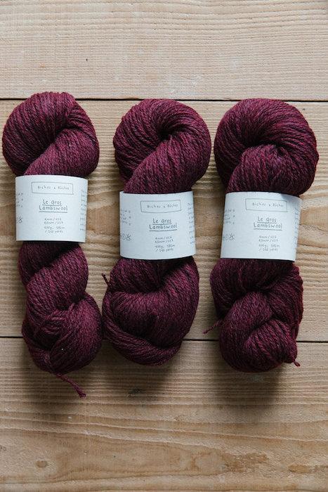Biches & Bûches le gros burgundy grey