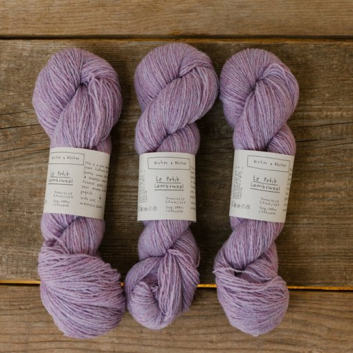 Biches & Bûches le petit lambswool light pink violet