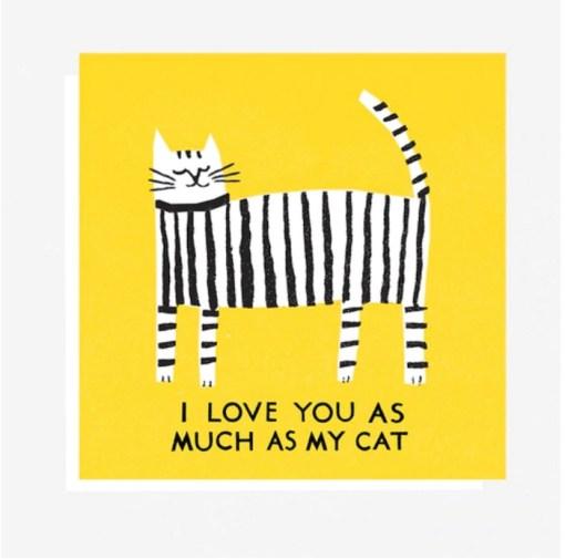 The printed Peanut Love Cat Card