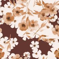 Family Fabrics - Jersey - Watercolor Mahogany Cherry