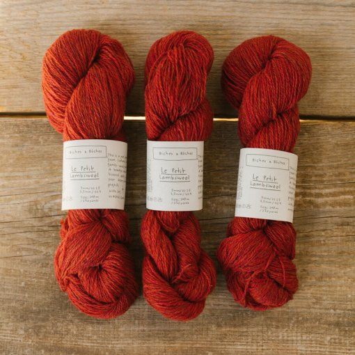 Biches & Bûches Le Petit Lambswool Medium Red Grey