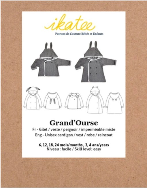 ikatee sewing pattern grand'ourse