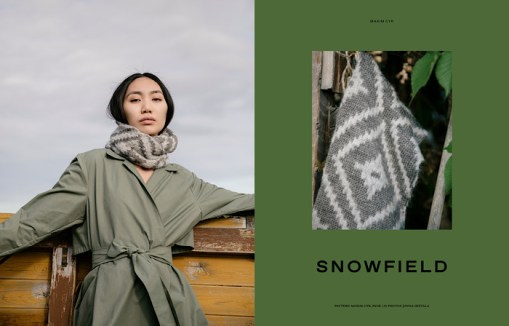 Laine Magazine - Issue 10 Page Layout Snowfield