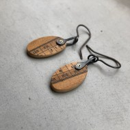 Clare Hillerby Ruler hanging earrings 1