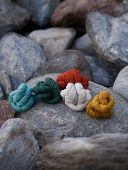 John Arbon yarn on a rock
