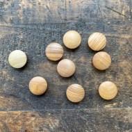 Wood Flat Top Shaft Buttons