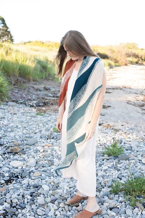 Modeling striped shawl Making Magazine - No. 11 DAWN