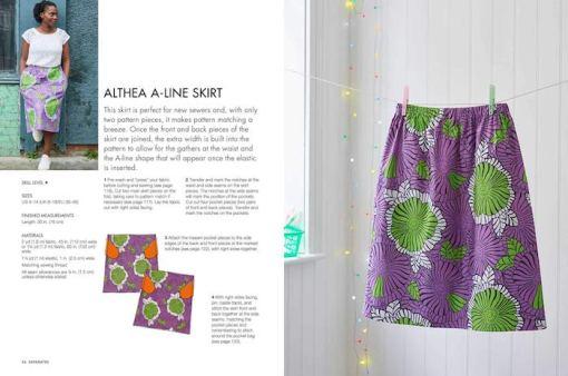 Sewing with african wax print fabric - Adaku Parker - Skirt