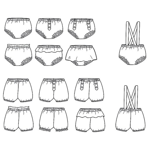 Overview Bilbao Bloomers - Ikatee Paper Sewing Pattern