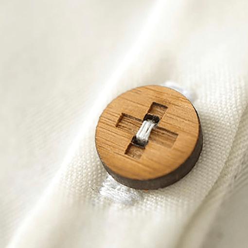 Sewn on The Positive Button - Arrow Mountain
