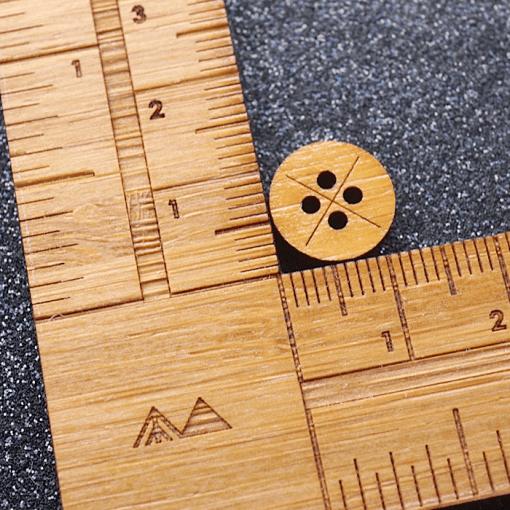 Measure The Shirt Button - Arrow Mountain