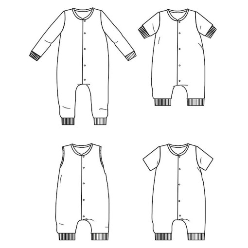 Overview Gaby Jumpsuit - Ikatee Paper Sewing Pattern