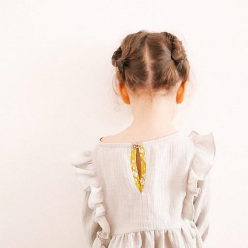 Back detail Stella Blouse & Dress - Ikatee Paper Sewing Pattern