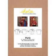 Cover Paris Shirt Baby - Ikatee Paper Sewing Pattern