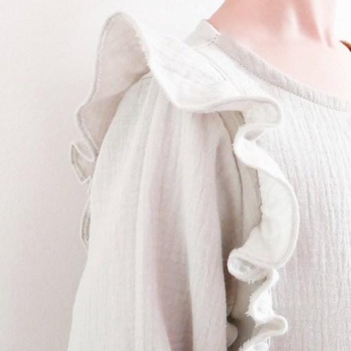 Detail Stella Blouse & Dress - Ikatee Paper Sewing Pattern