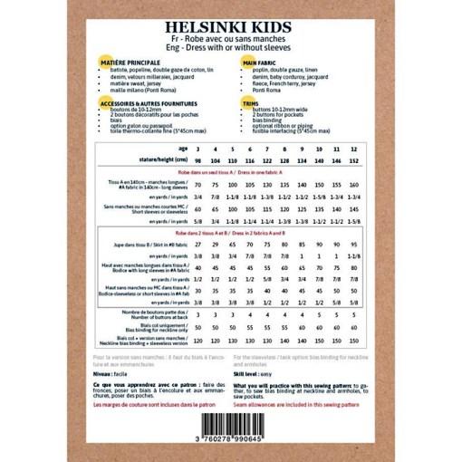 Back cover Helsinki Dress - Ikatee Paper Sewing Pattern