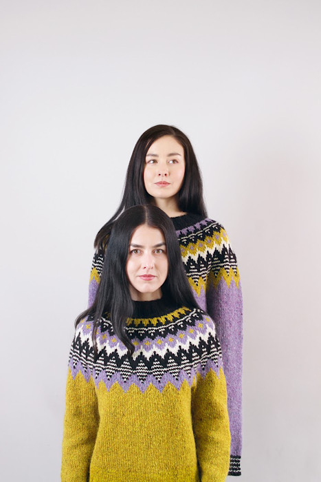 modeling Moon and Turtle - Kiyomi & Sachiko Burgin