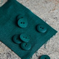 mind the MAKER curb cotton buttons bottle green