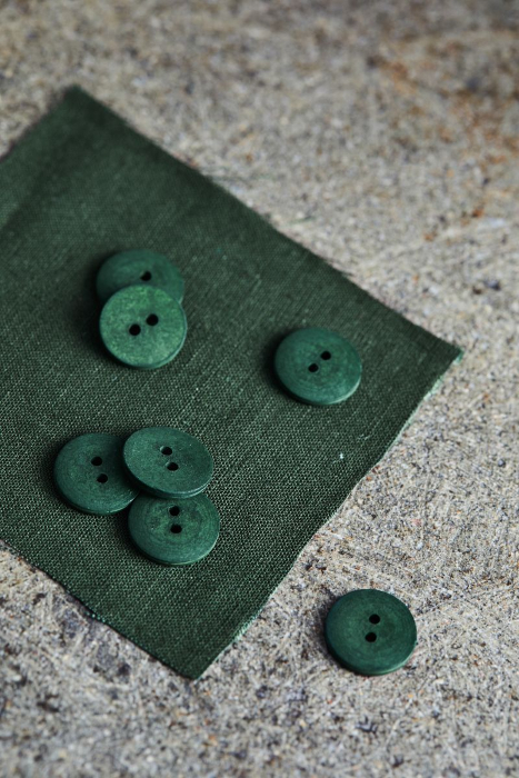 mind the MAKER curb cotton button greem khaki