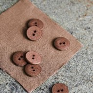 mind the maker curb cotton 18cm buttons old rose