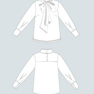 The Assembly line Tie Bow Blouse