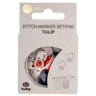 Tulip stitch markers set