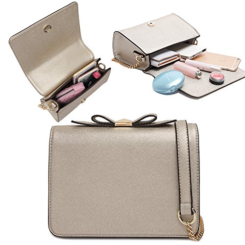 Womens Small Crossbody Bags Cell Phone Wallet Purse Bag Flapover Chain Strap