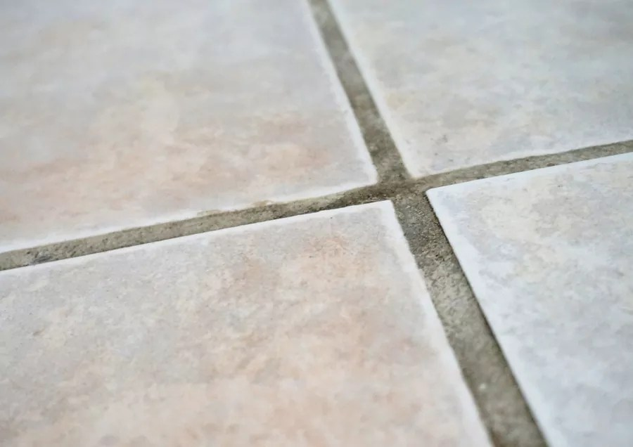 the tile and grout cleaning process