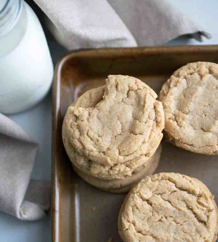 Old Fashioned Peanut Butter Cinnamon Cookies